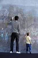Pintura de la pared que se puede utilizar con tiza pasteles para crear arte de la pared