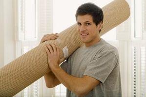 Cómo enderezar una encrespada de alfombras