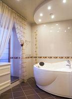 Ideas cortina de la ventana del cuarto de baño