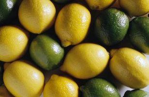 Cómo poner los limones y limas en un tarro para la decoración de la cocina