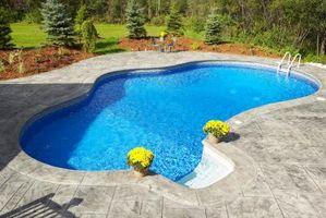 ¿Cómo puede Manchas ser eliminada de una piscina de gunita?
