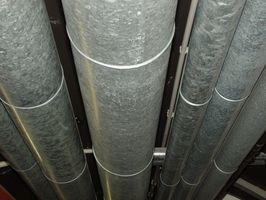 La canalización adecuada de instalación en un horno