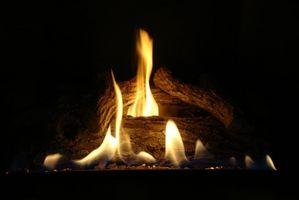 Como la luz de gas Chimenea Los insertos