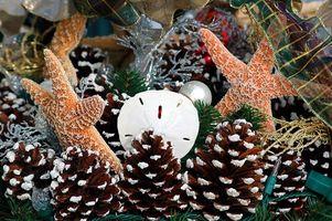 Decoración de una casa de Cape Cod para la Navidad