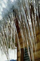 El aumento de la temperatura para derretir la nieve en una azotea