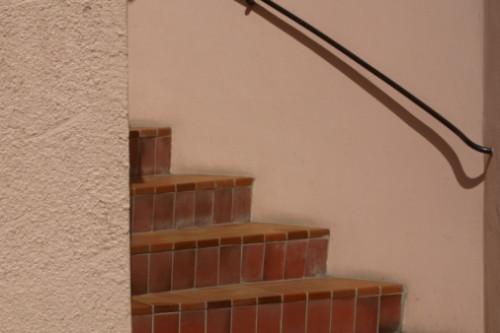 Como una escalera de baldosas