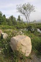 Como paisaje con grandes rocas