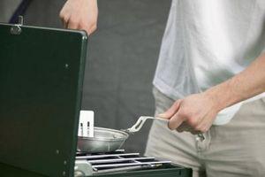 Configuración de la parrilla de gas correcta de carbones de cerámica