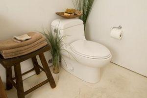 Cómo reparar un asiento de inodoro agrietada