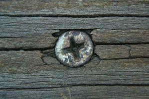Diferentes tipos de tornillos para madera