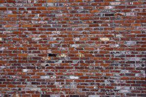 Las paredes del paisaje que se parecen a ladrillo