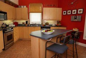 Ideas para la tinción de armarios de cocina con diferentes colores