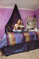 Ideas para decorar colores para púrpura, azul y dormitorio Negro Un adolescente de las muchachas
