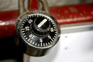 Cómo recuperar una cerradura de combinación