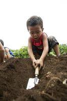 Los componentes de suelo: arena, limo y arcilla