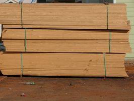 Cómo utilizar un estante de madera de construcción