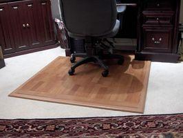 Como hacer una estera de escritorio superficie dura para una silla de escritorio en la alfombra