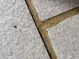 Como mortero de los azulejos de mosaico de piedra