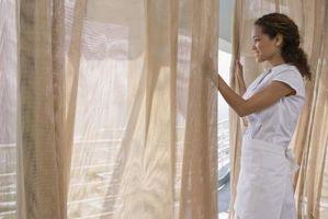 Cortinas de tela hecha en casa