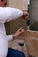Cómo azulejo de cerámica y de rasguño de la capa