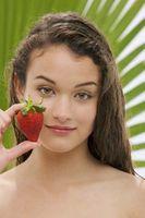 Gusanos en plantas de fresas