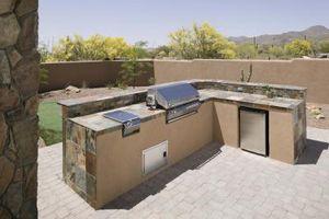 Vs. Acero Stud Bloque de hormigón para la cocina al aire libre Framing