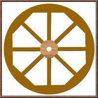 Cómo hacer una Rueda de carro de madera