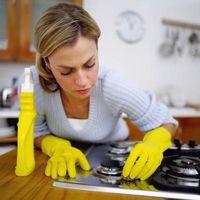 Cómo conseguir al horno los derrames apagar el rango-Top quemador sartenes