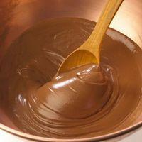 ¿Cómo llega a enfriarse chocolate derretido Fuera de ropa