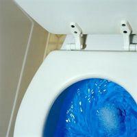 Por lo que el nivel del agua sube en un inodoro sin presión