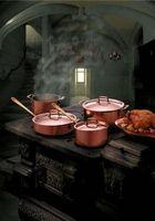 Ideas para colgar utensilios de cocina de cobre