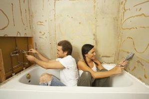 Cómo arreglar Rotted paneles de yeso alrededor de una bañera