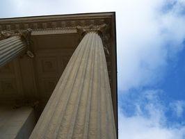 Diferentes tipos de columnas romanas