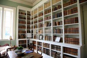 Partes de un estante para libros