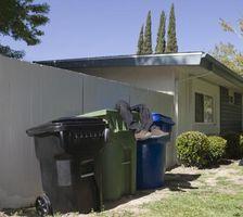 ¿Cómo deshacerse de los gusanos en las latas de basura afuera