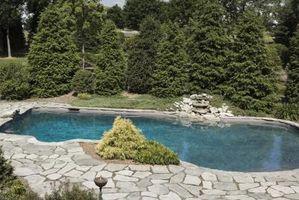 Vs. forro Las piscinas de albañilería