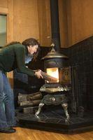 ¿Cómo se ponen un hogar de piedra natural bajo una estufa de leña