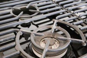 Los componentes de una estufa de gas
