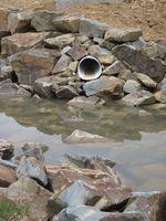 Como prueba de las tuberías de drenaje