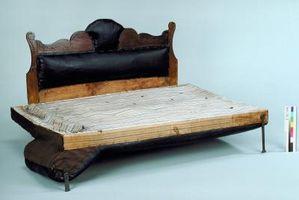 Las instrucciones para una cama de día o de huéspedes Bed