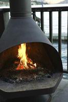 Instalación de tuberías con aislamiento de la chimenea