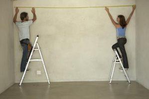 Cómo medir paredes y techos en Matemáticas
