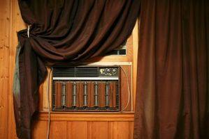 El A / C ventana de la unidad de compresor líneas se congelen