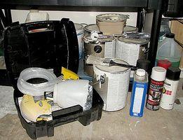 Cómo limpiar y pintura tienda Herramientas y equipo