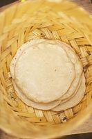 Forma de guardar las tortillas de harina en el refrigerador
