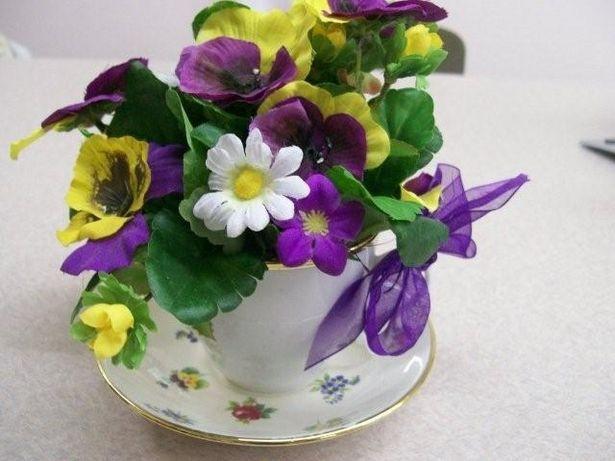 Cómo Crear Un Arreglo Floral De La Taza De Té Digfineartcom