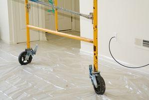 Eliminación del amianto de un techo acústico