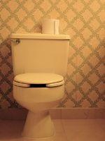 Es el piso de vinilo alrededor de mi WC decolorado del agua que se escapa desde el inodoro?