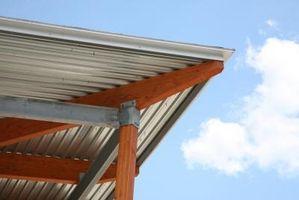 Los techos de metal sobre el Cabins