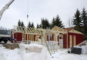 Los contras de construcción de una casa en el invierno